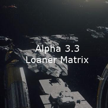 Star Citizen Alpha 3.3 Loaner Ship Matrix